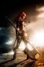 Red Sonja cosplay by Tabitha Lyons
